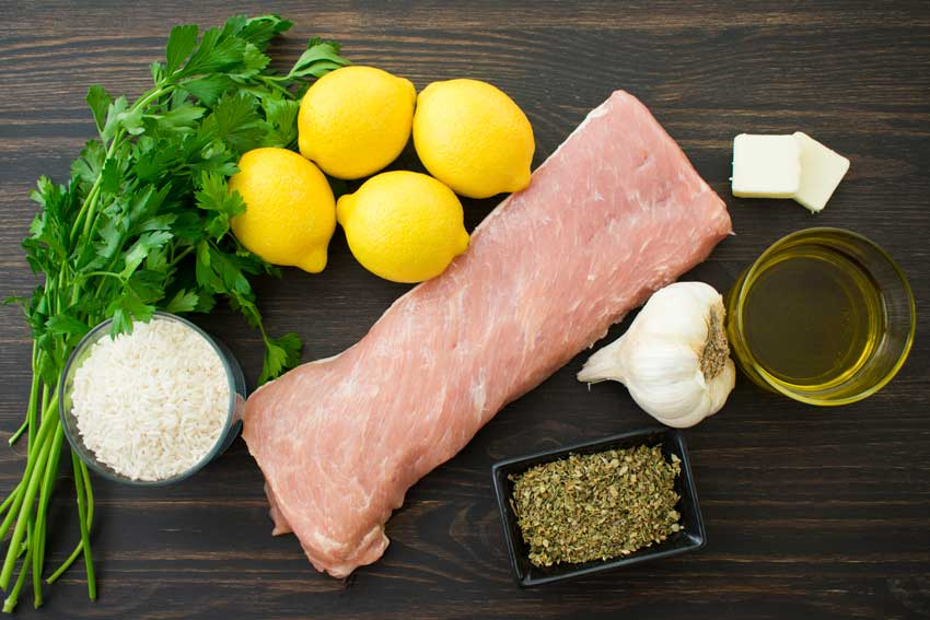Pork Souvlaki with Lemon Rice Ingredients