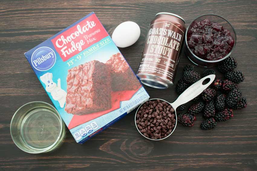 Chocolate Stout Blackberry Brownies Ingredients
