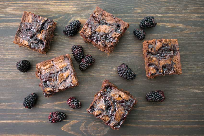Chocolate Stout Blackberry Brownies