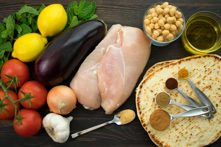 Spiced Moroccan Chicken Wrap Ingredients