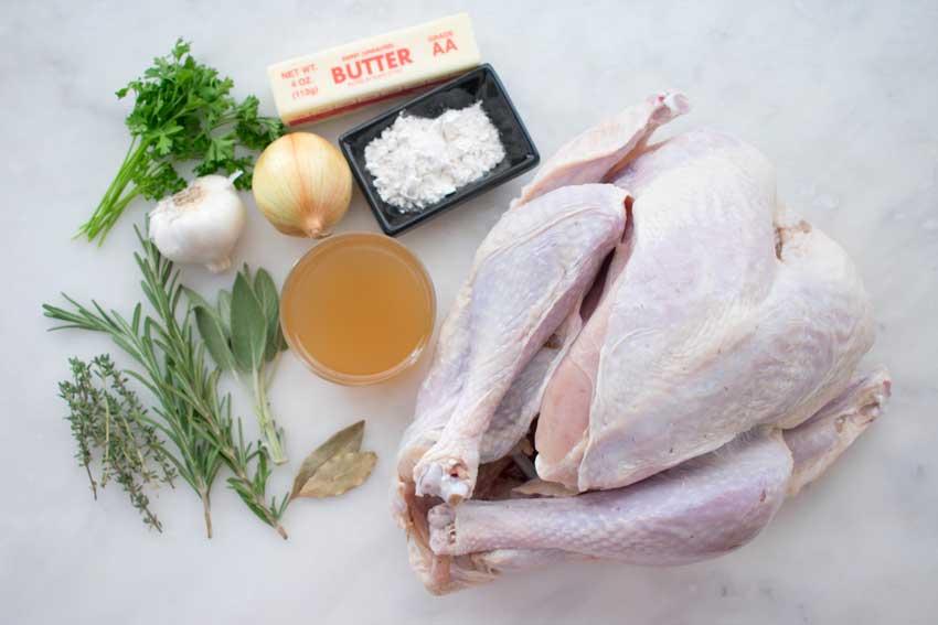Herb Roasted Turkey with Gravy ingredients