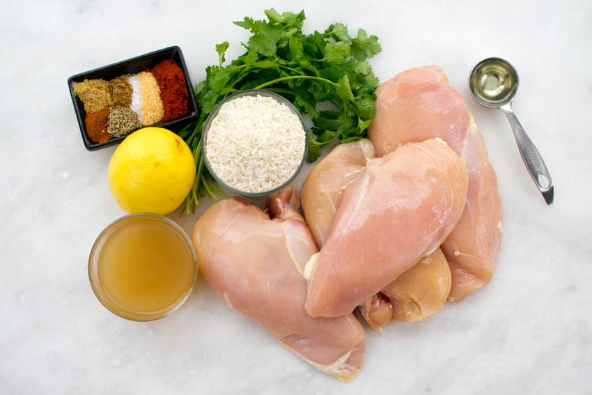 One Pan Spanish Chicken and Rice Ingredients