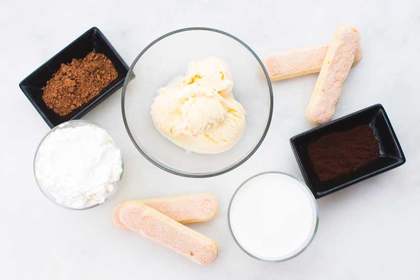 Tiramisu Milkshake Ingredients