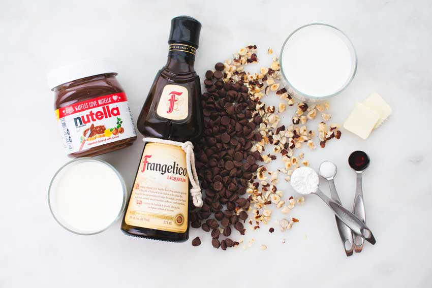 Hazelnut Italian Hot Chocolate Ingredients