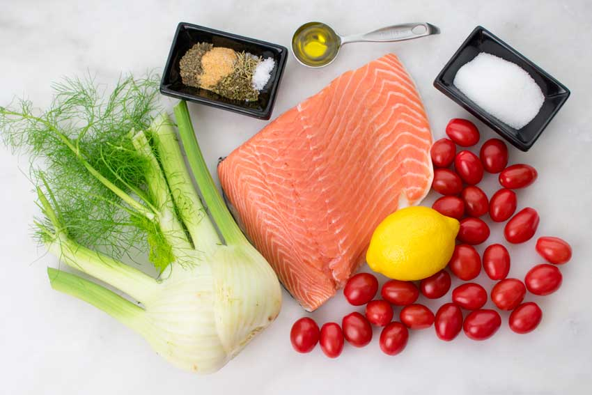 Mediterranean Salmon Ingredients