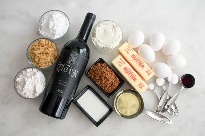 Red Wine Chocolate Cake Ingredients