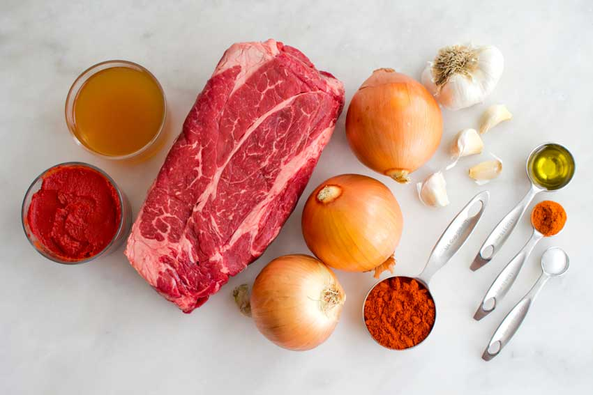Hungarian Beef Goulash Ingredients