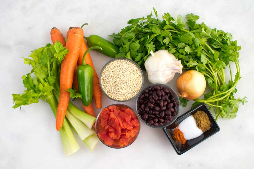 Mexican Quinoa Stew Ingredients