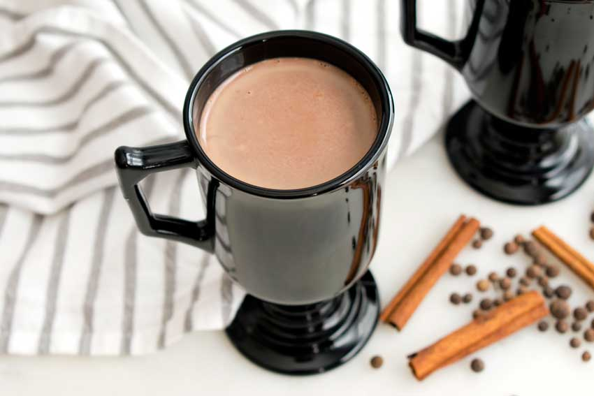 Peruvian Hot Chocolate Infused with Cinnamon and Allspice