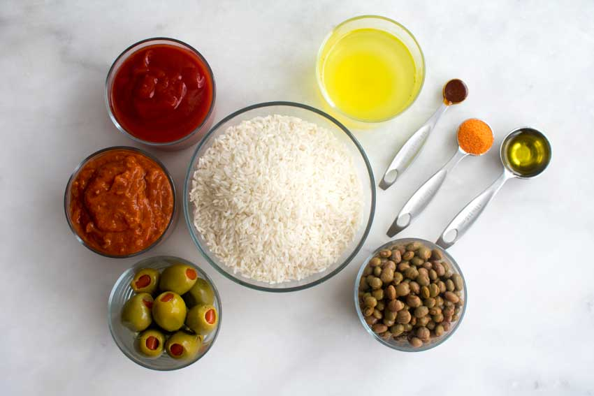 Rice with Pigeon Peas (Arroz Con Gandules) Ingredients