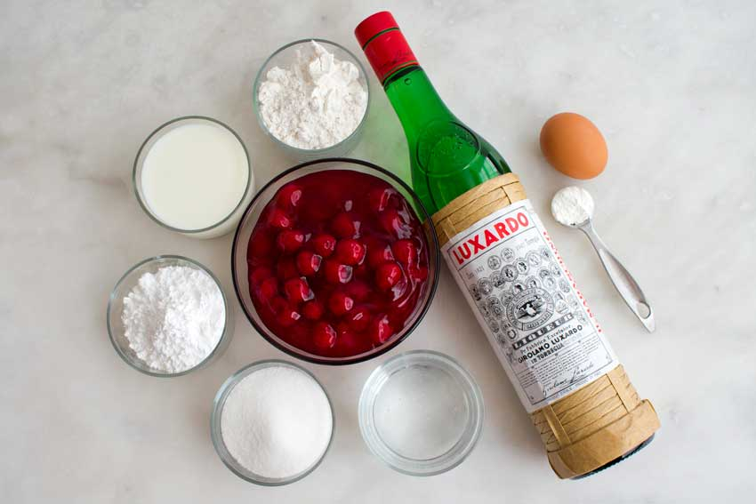 Hungarian Crepes Stuffed with Cherries Ingredients