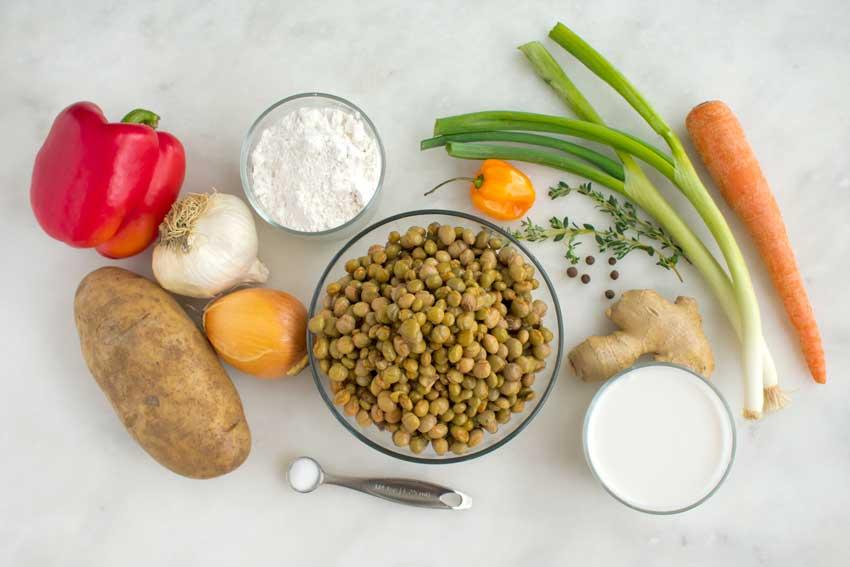 Jamaican Gungo Peas Soup (Vegan) Ingredients