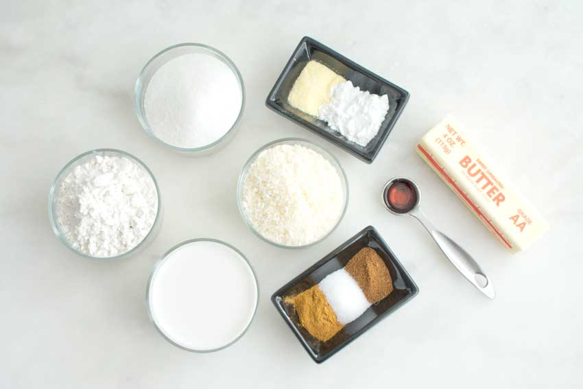Toto – Coconut Spice Cake Ingredients