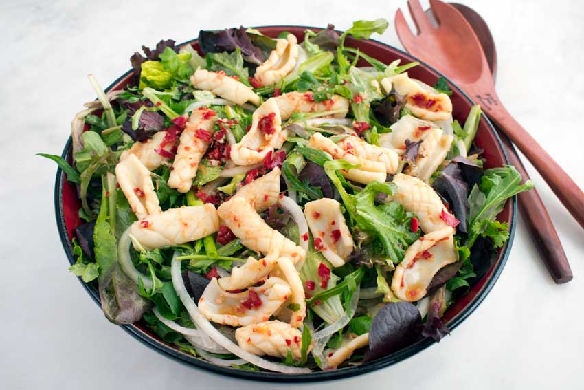 Vietnamese Spicy Squid Salad