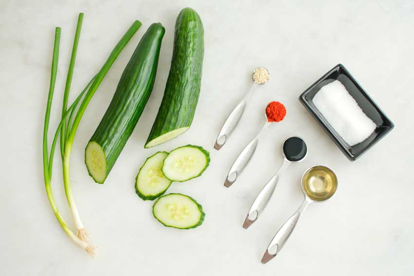 Korean Cucumber Salad (Oi Muchim 오이무침) Ingredients