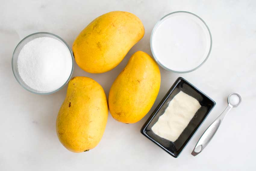 Mango Pudding Ingredients