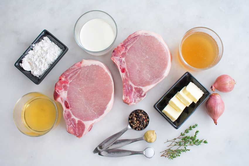 Pork Chops with Peppercorn Sauce Ingredients