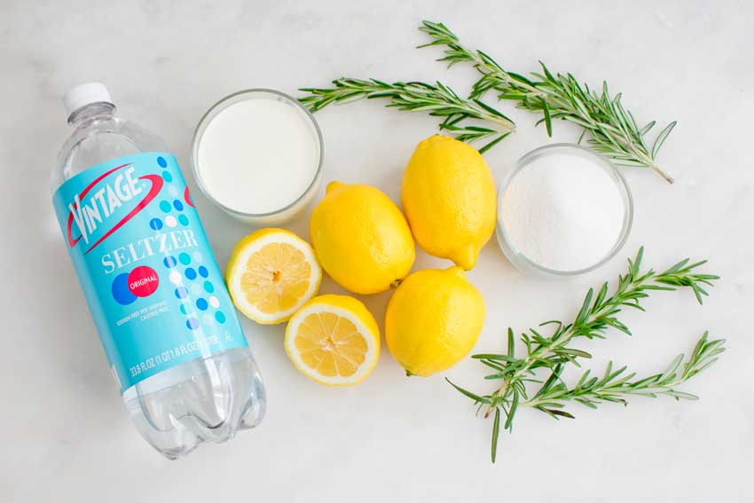 Rosemary Lemon Cream Soda Ingredients