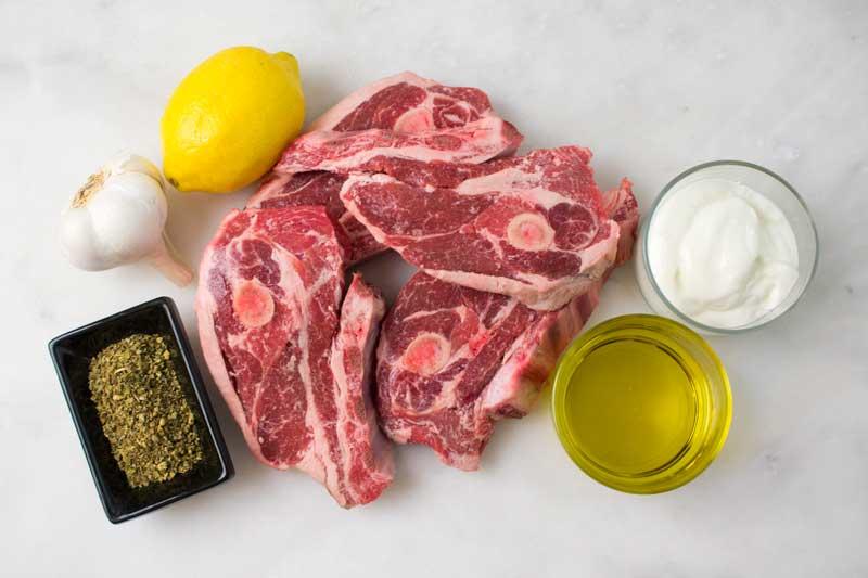 Greek Style Grilled Lamb Chops Ingredients