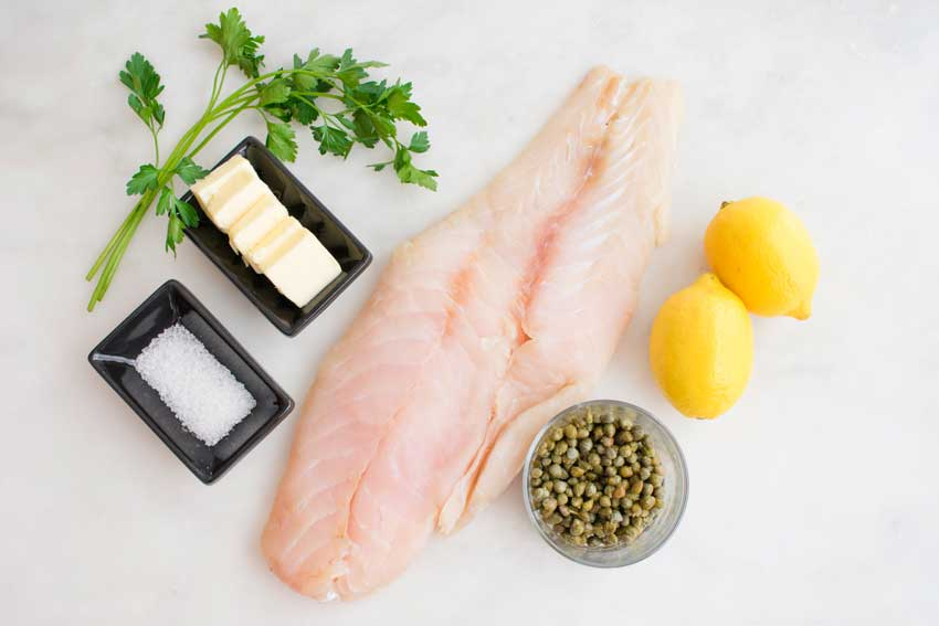 Grouper with Lemon-Caper Butter Ingredients