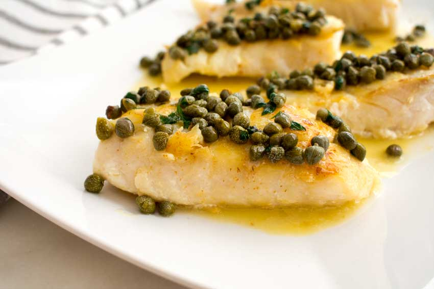 Grouper with Lemon-Caper Butter