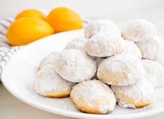 Meyer Lemon Greek Butter Cookies (Kourabiedes)