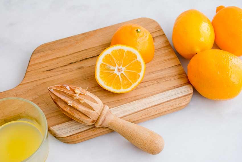 Juicing the Meyer lemons