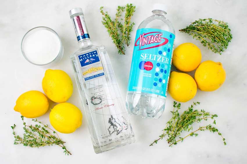 Lemon Thyme Gin Fizz Ingredients