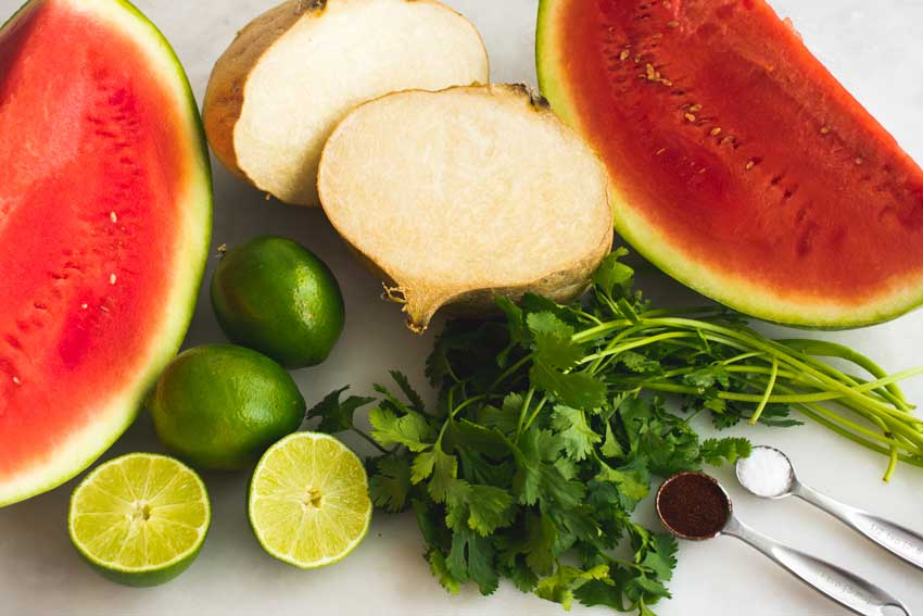 Mexican Watermelon Salad Ingredients