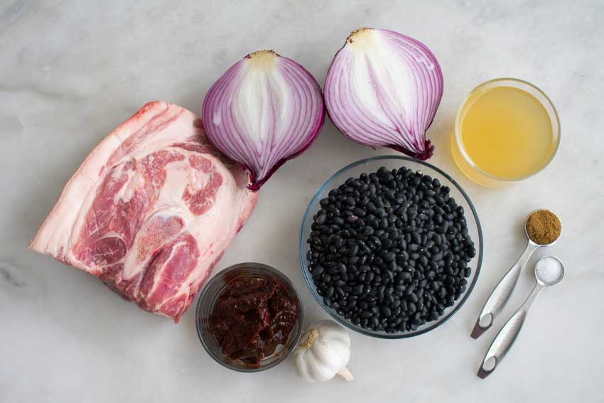Slow Cooker Pork and Black Bean Soup Ingredients