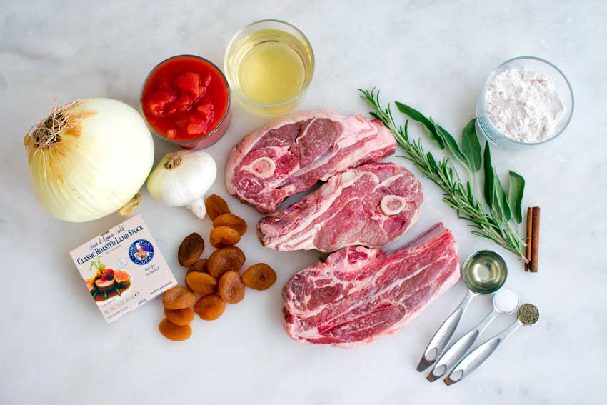 Catalan Lamb Chops with Apricots Ingredients