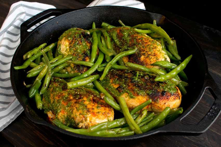 Chimichurri Chicken Green Beans Skillet