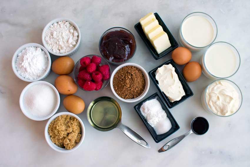 Chocolate Raspberry Cake Ingredients