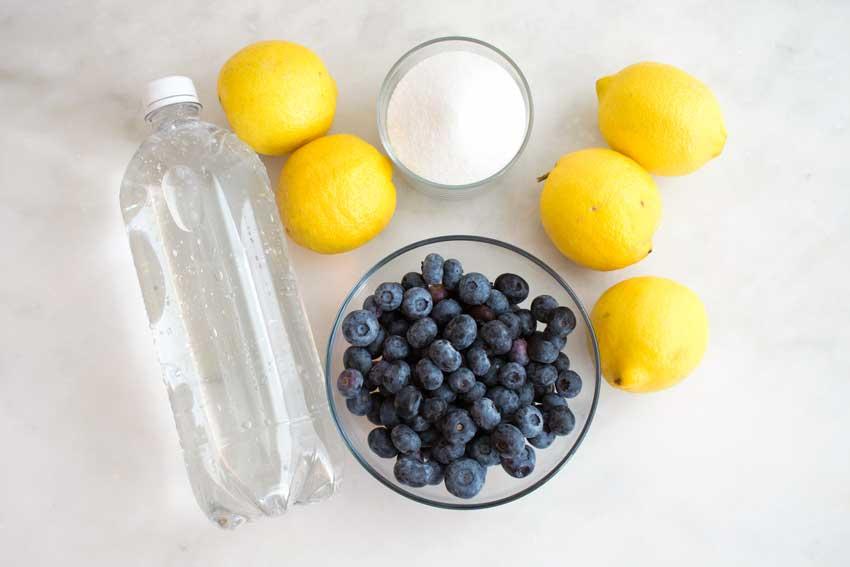 Easy Sparkling Blueberry Lemonade Ingredients