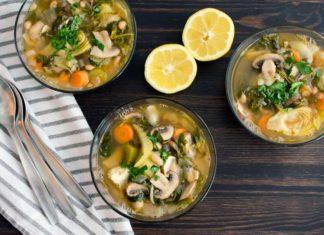 Loaded Lemon Artichoke Orzo Soup