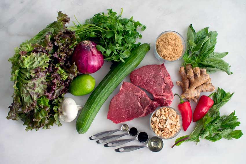 Thai Beef Salad Ingredients