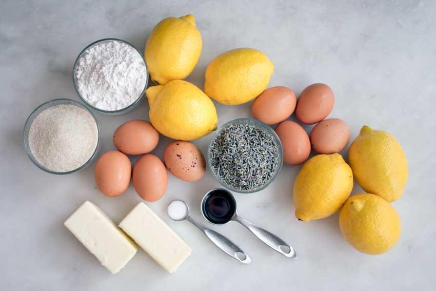 Lavender Lemon Bars Ingredients