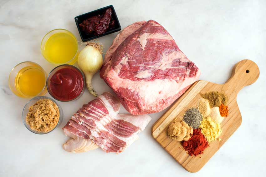 Oven-Barbecued Beef Brisket ingredients