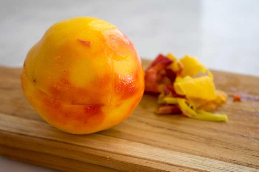 Peeled peach