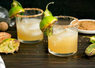 Charred Lime & Jalapeño Margaritas