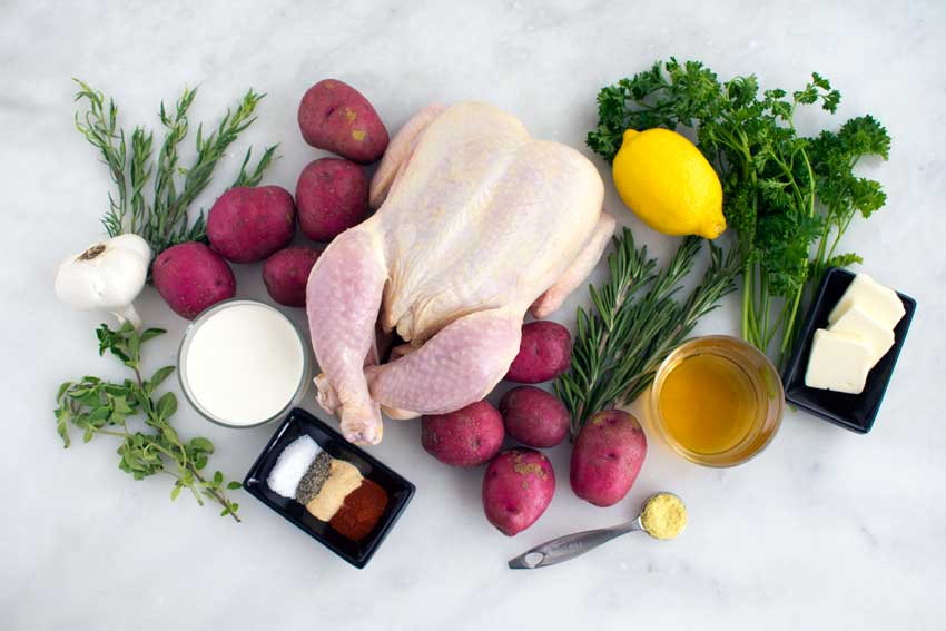 Creamy Lemon and Herb Pot Roasted Chicken Ingredients