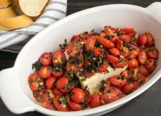Baked Feta with Cherry Tomatoes and Fresh Herbs