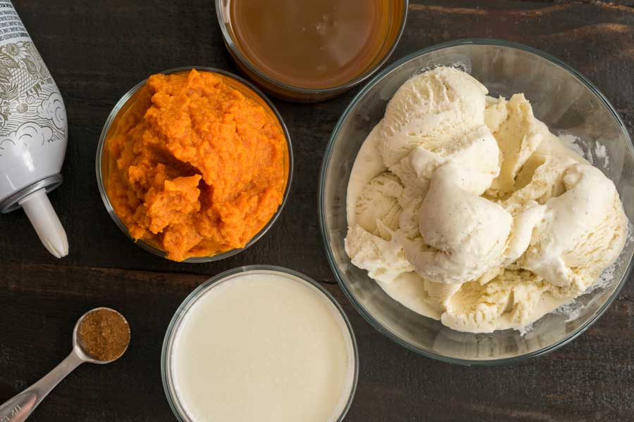 Pumpkin Caramel Milkshake Ingredients