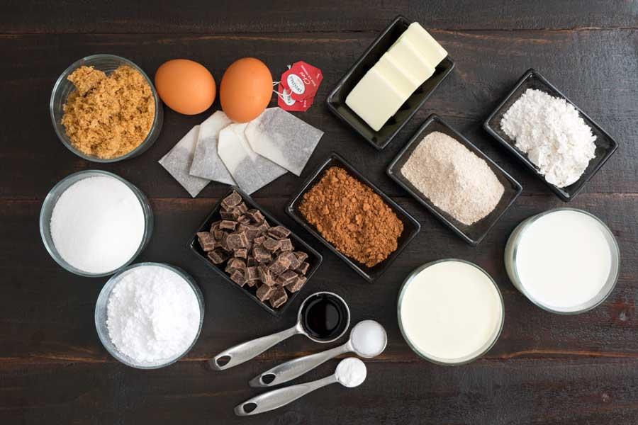 Baby Chai Caramel Fudgey Brownie Cakes Ingredients