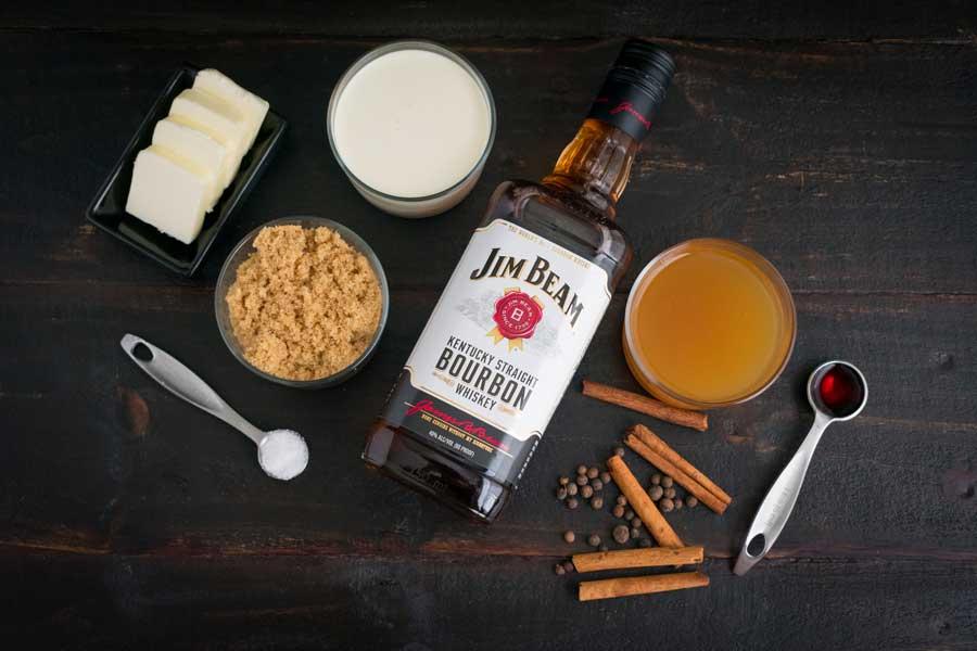 Hot Apple Pie Bourbon Cocktail Ingredients