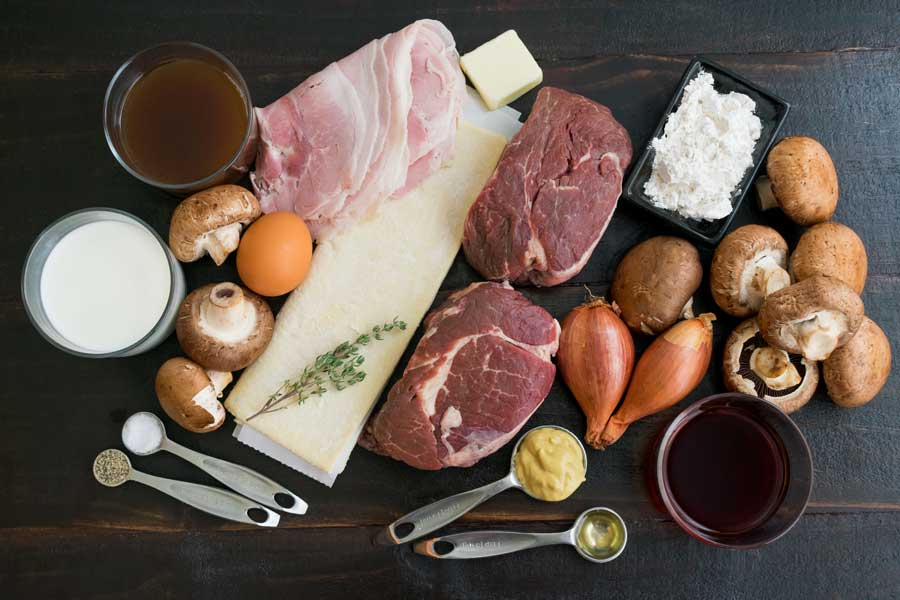 Individual Beef Wellington with Mushroom Sauce Ingredients