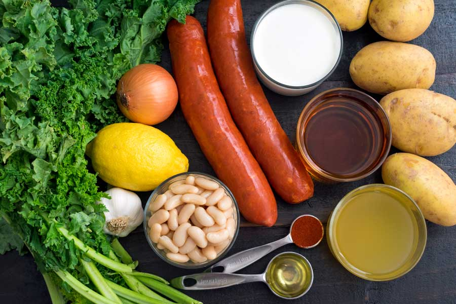 Portuguese Caldo Verde Soup Ingredients