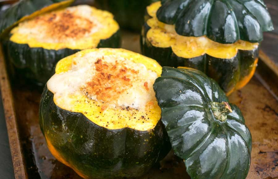 White Cheddar Mac n' Cheese Stuffed Squash