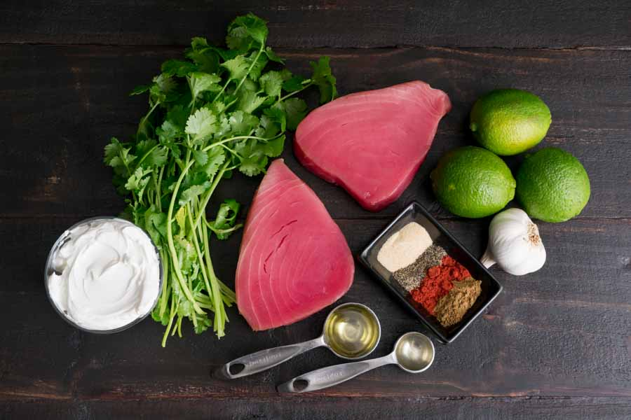 Cilantro Lime Seared Ahi Tuna Ingredients