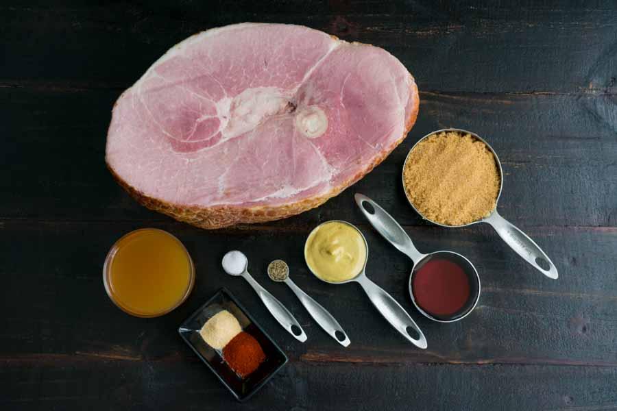 Crock-Pot Brown Sugar Glazed Ham Ingredients